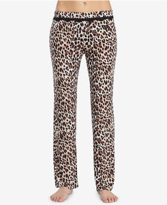 Betsey Johnson Printed Lace-Trim Pajama Pants