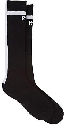 RtA Men's Logo Cotton-Blend Mid-Calf Socks