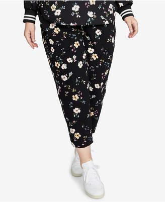 Rachel Roy Trendy Plus Size Floral-Print Pants