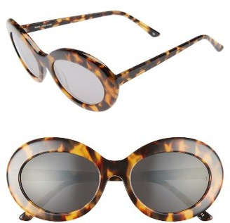 Women's Sunday Somewhere Kurt 55Mm Oval Sunglasses - Marble $250 thestylecure.com