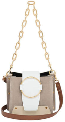 Yuzefi Delila Leather/Suede Ring Bucket Bag