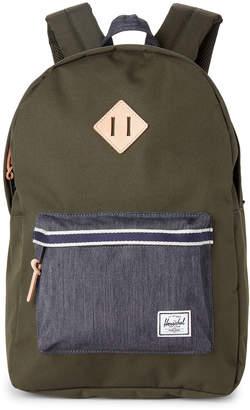 Herschel Green & Denim Heritage Laptop Backpack