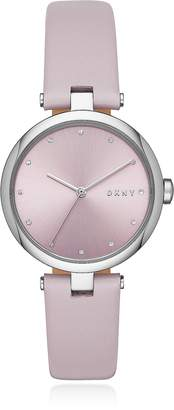 DKNY Eastside Pink Leather Watch