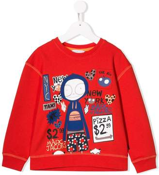 Little Marc Jacobs Mr Marc print sweatshirt