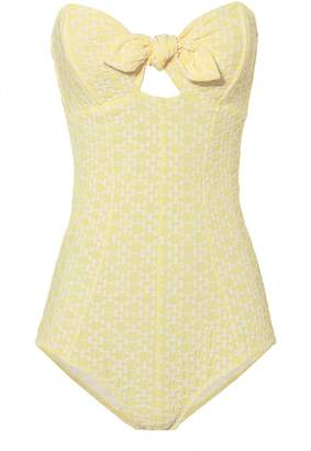 Lisa Marie Fernandez Poppy Yellow One Piece Swimsuit
