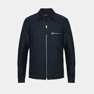 Theory Cotton Pique Zip Shirt Jacket