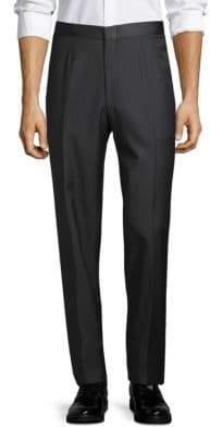 Isaia Classic Wool Tuxedo Pants