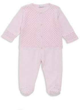 Kissy Kissy Baby's Cotton Two-Piece Tender Touches Knit Cardigan and Pants Set