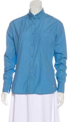 Tomas Maier Tonal Button-Up Top