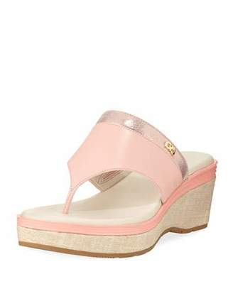 Cole Haan Cecily Grand Thong II Wedge Sandal, Coral Almond