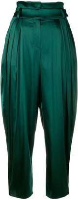 Alexandre Vauthier draped cropped trousers