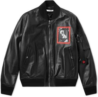 Givenchy Romantic Patch Leather MA1 Jacket