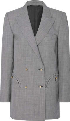 BLAZÉ MILANO Kentra Double-Breasted Houndstooth Wool Blazer