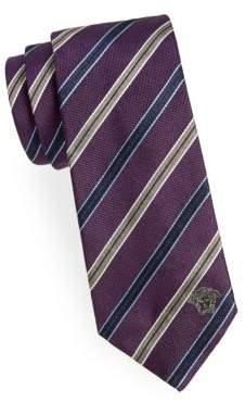 Versace Two-Tone Striped Silk Tie
