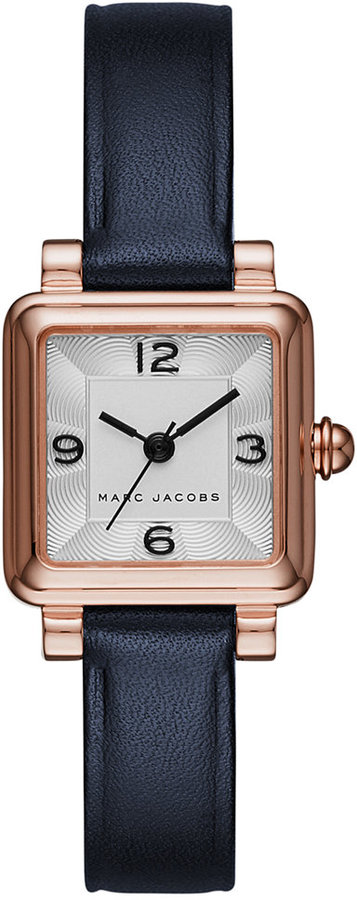 Marc By Marc JacobsMarc by Marc Jacobs Women's Vic Navy Leather Strap Watch 20x20mm MJ1546