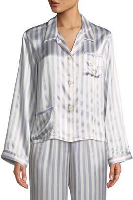 Morgan Lane Chantal Bunny Striped Pajama Top