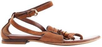 Gucci Brown Suede Sandals