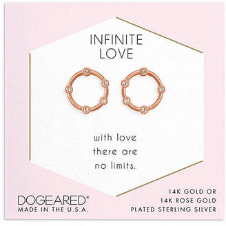 Dogeared 14K Rose Gold Over Silver Crystal Studs