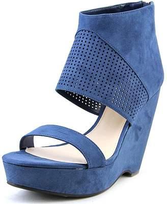 Bar III Siren Women US 7 Blue Wedge Heel