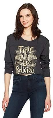 True Religion Women's Long Sleeve Concert Tee