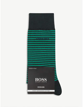 HUGO BOSS Marc striped cotton-blend socks
