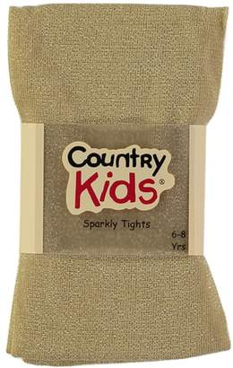 Jefferies Socks Unknown Country Kids and Girls Sparkly Footed Tights Metallic for Ages 1-14 Years