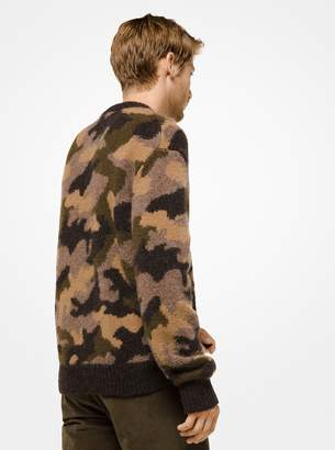 Michael Kors Camouflage Wool-Blend Pullover