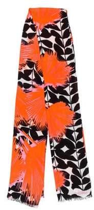 Diane von Furstenberg Linen-Blend Printed Scarf Pink Linen-Blend Printed Scarf