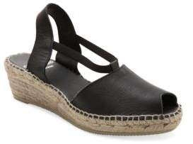 Andre Assous Dainty Leather Espadrille Wedge Sandals