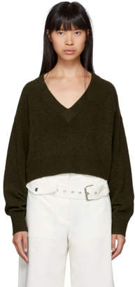 3.1 Phillip Lim Green Lofty V-Neck Sweater