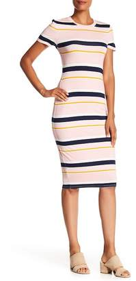 Rachel Roy Chalk Stripe T-Shirt Dress