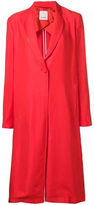 Pinko single-breasted duster coat