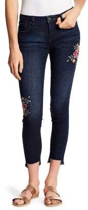 Miss Me Floral Embroidered Ankle Skinny Jeans