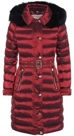 Burberry Fur-trimmed down coat