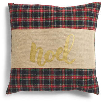 20x20 Noel Plaid Pillow