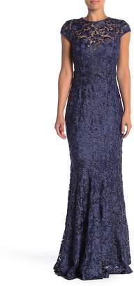 Marina Back Keyhole Lace Gown