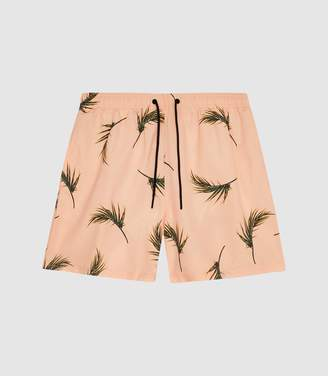 58d70c4885bf8 Reiss Palmer - Floral-printed Swim Shorts in Pink
