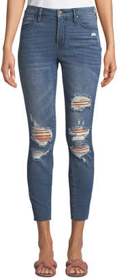 KENDALL + KYLIE The Push Up Distressed Ripped Cropped Skinny Jeans
