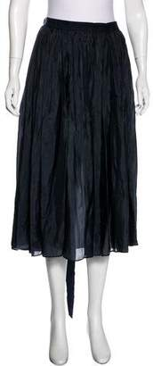 Lanvin Silk Pleated Skirt