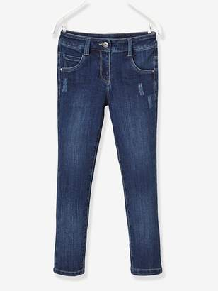 Vertbaudet NARROW Fit - Girls' Stretch Denim Trousers