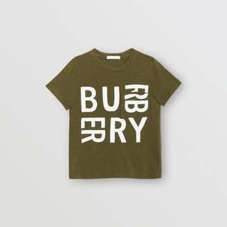 Burberry Childrens Logo Print Cotton T-shirt