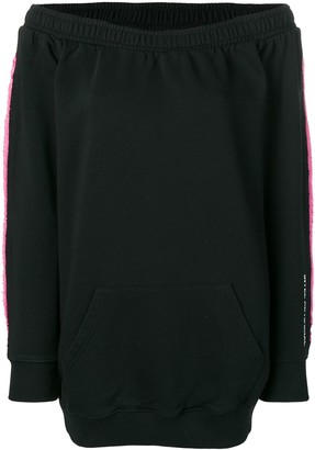 Marcelo Burlon County of Milan layered sweatshirt dress