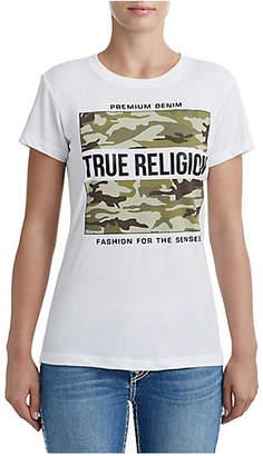 True Religion WOMENS CAMO LOGO GRAPHIC TEE
