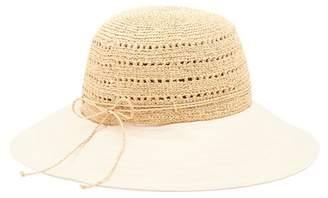 Helen Kaminski Kessy Rollable & Packable Raffia Crown Hat