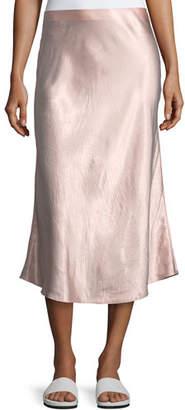 Vince A-Line Satin Slip Midi Skirt
