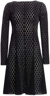 Akris Punto Lace Punto A-Line Dress