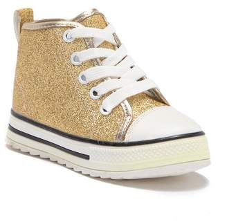 Chloé K NEW YORK Glitter Hi-Top Sneaker (Toddler & Little Kid)