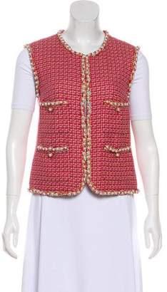 Chanel 2017 Embellished Tweed Vest