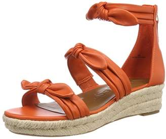 Nine West Women's Allegro Platform Sandals, (Tropic Orange CU)