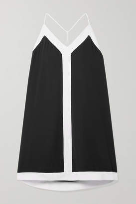 Alice + Olivia Alice Olivia - Alexi Two-tone Crepe Mini Dress - Black